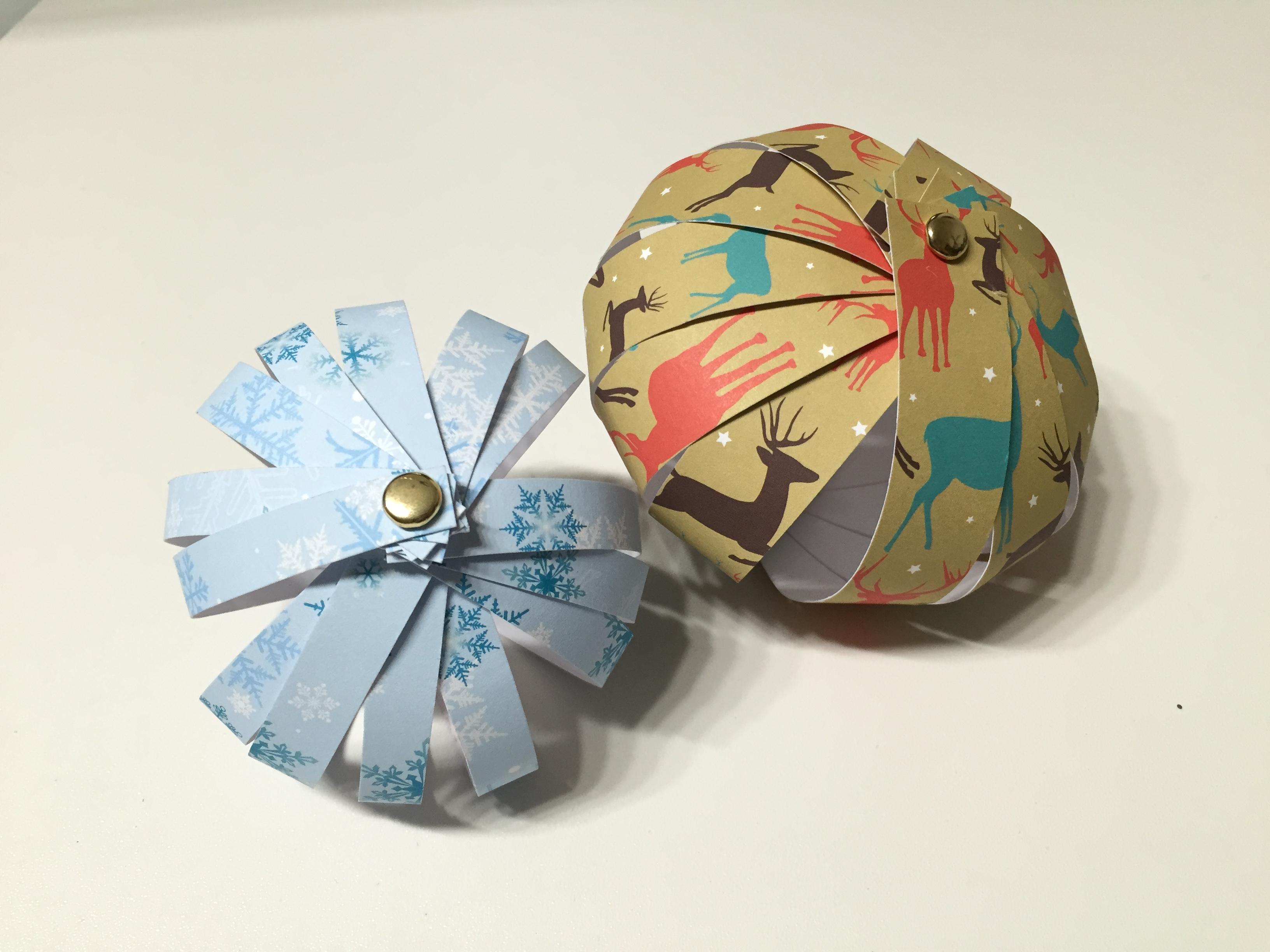 Bolas navidad de papel clarimanitas - Manualidades bolas de navidad ...