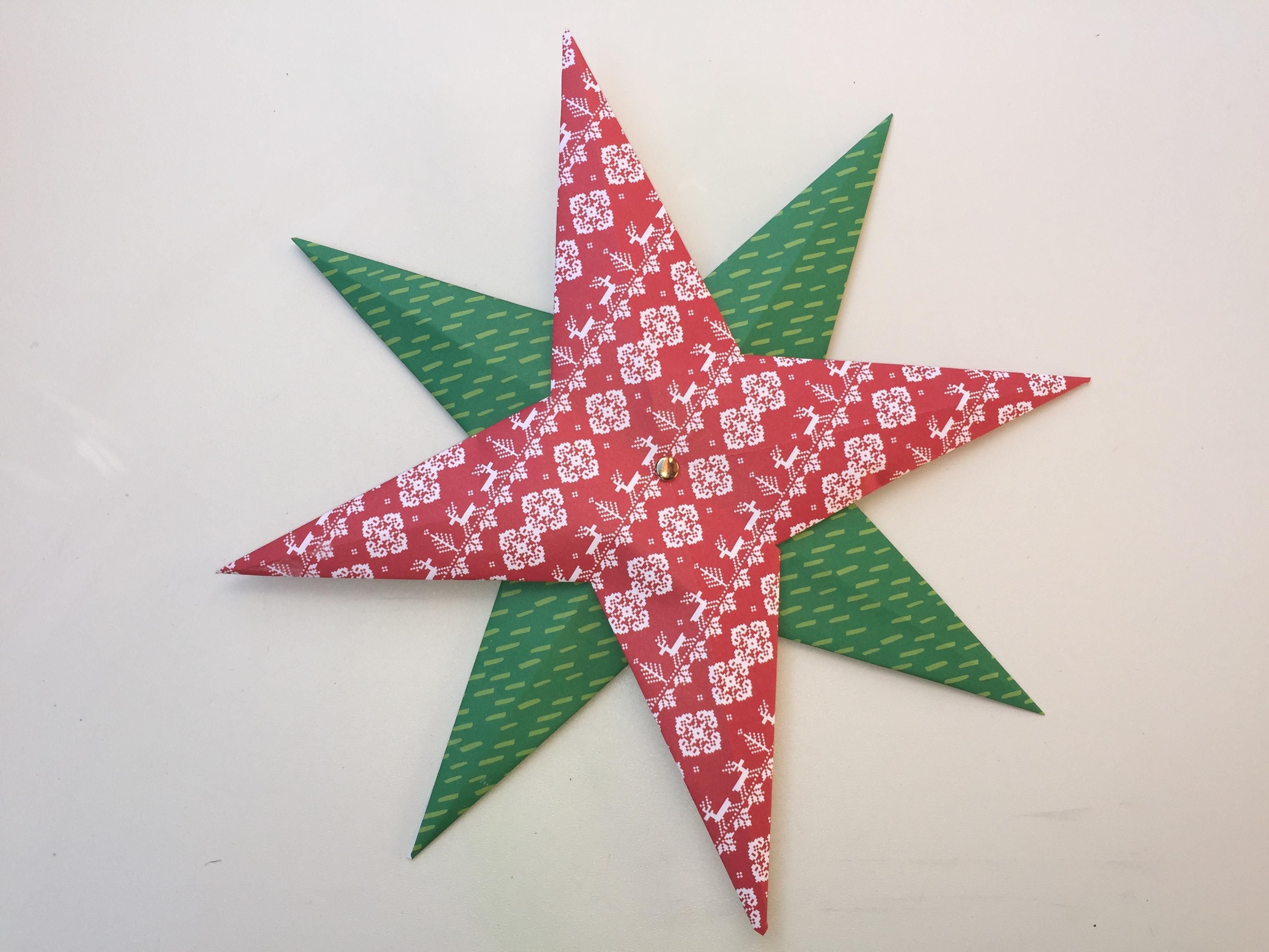 Estrella de navidad de papel clarimanitas - Estrellas de papel ...