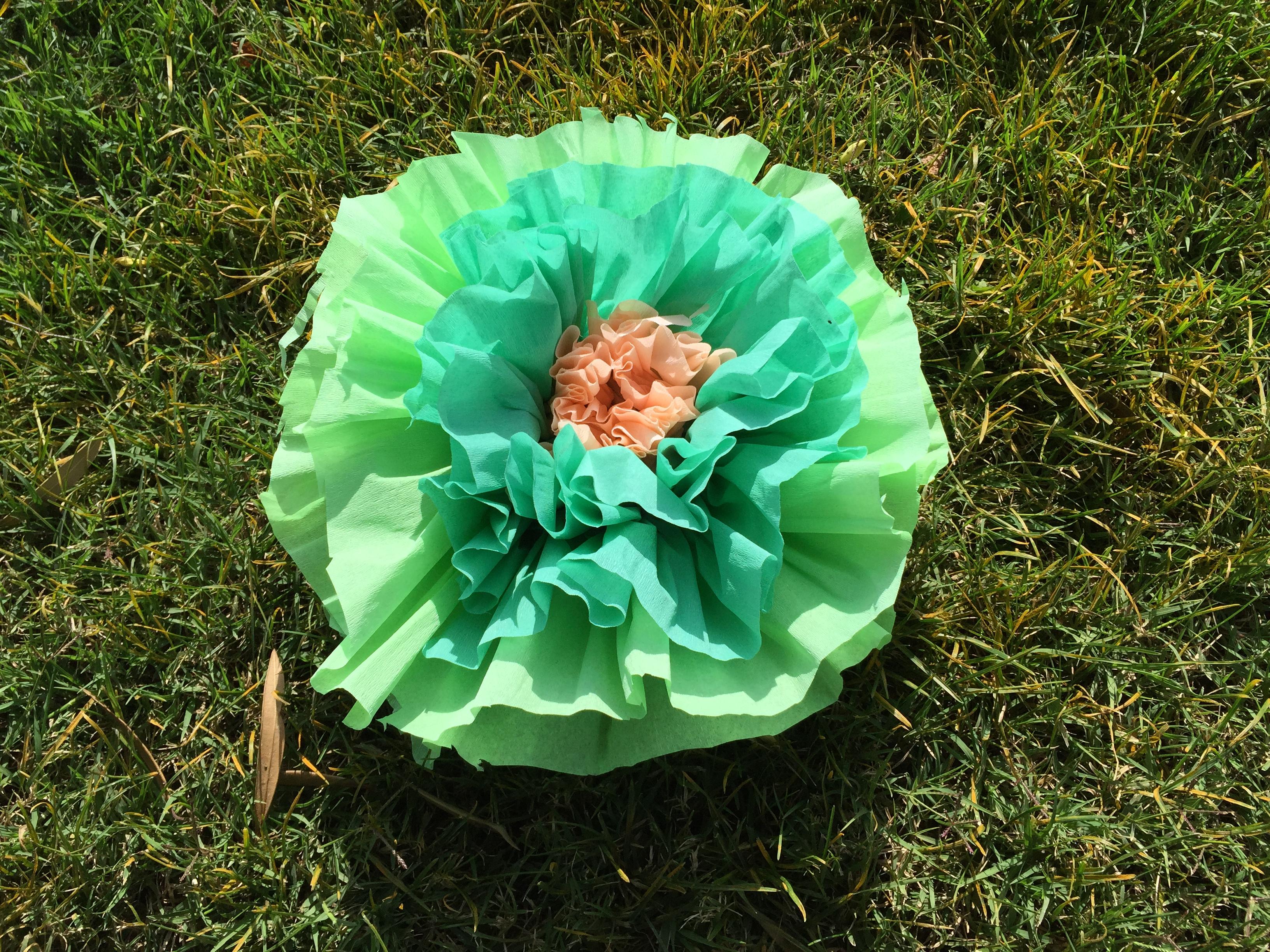 Como Hacer Una Flor Papel Crepe Clarimanitas