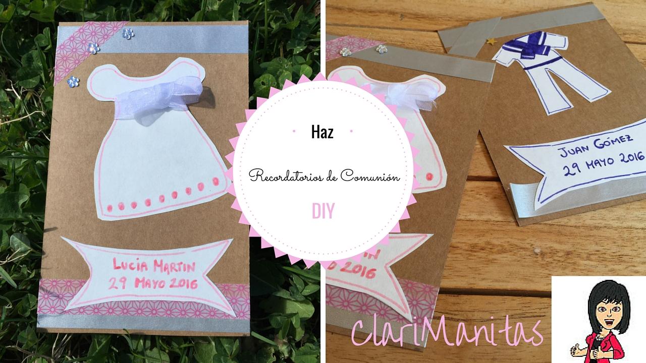 Recordatorios de comuni n clarimanitas - Como hacer tarjetas de comunion ...
