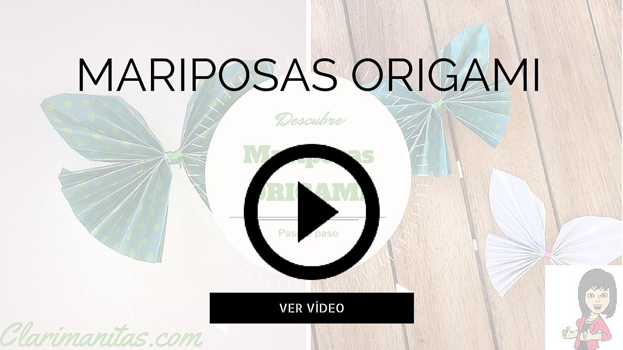 Mariposa origami paso a paso clarimanitas for Como hacer una alberca paso a paso