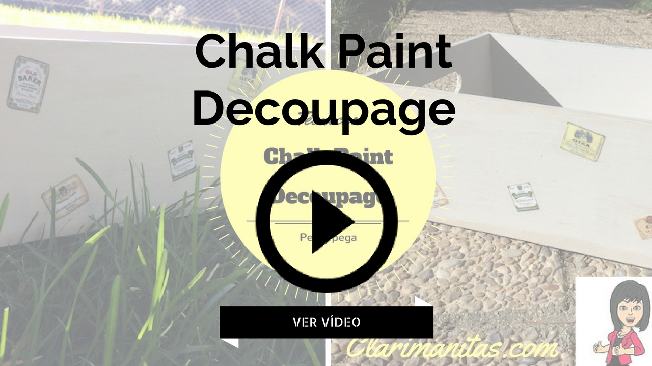 chalk paint decoupage