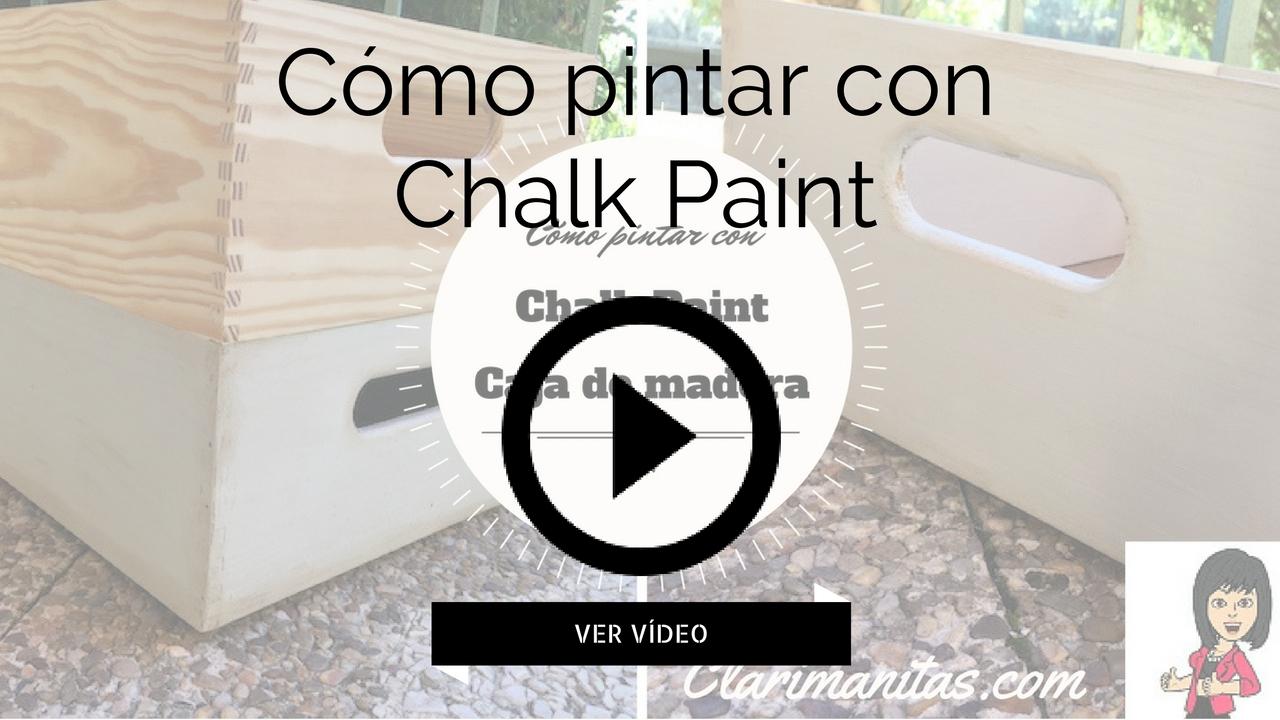 C mo pintar con chalk paint clarimanitas - Como pintar con pintura a la tiza ...