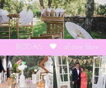Decoración para bodas al aire libre
